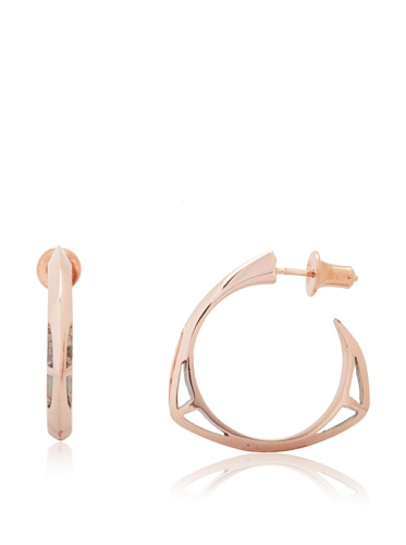 Katie Rowland Rose Gold Lilith Creole Earrings