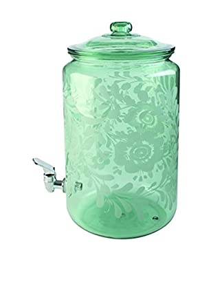Firenze Acrylic Etched Drink Dispenser, Green