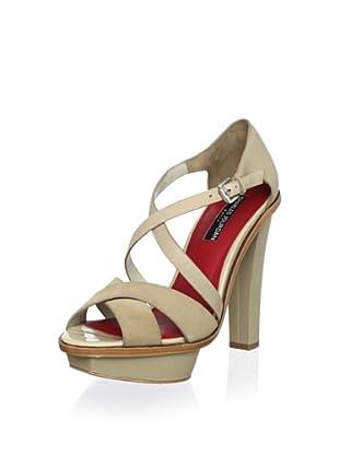 Charles Jourdan Collection Women's Lovey Platform Sandal (Beige Suede)
