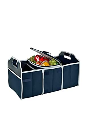 Picnic At Ascot Trunk Organizer and Cooler Set, Collapsible, Navy