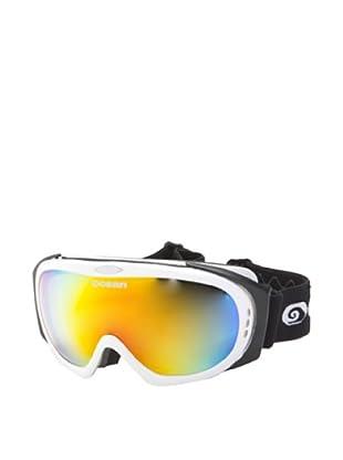 Ocean Máscara Ski Mont Black (Blanco Brillante)