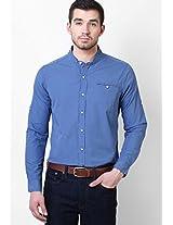 Blue Regular Fit Casual Shirt FREECULTR