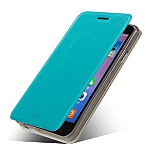 Mofi Flip Case for Micromax Yureka Yu with Innovative Flip-stand Design - Made of Lightweight 100% PU Leather + Precision Cut Out Ports for Easy Phone Access-Breathable, Moisture Resistant & Offers Excellent Protection against Scratches & Drops-Free ScreenGuard-Blue