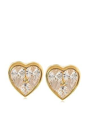 CZ by Kenneth Jay Lane Mosaic Heart CZ Stud Earrings