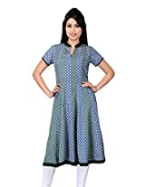 Lifestyle Retail Women Anarkali Kurta (TRN-1170-7409_Multi-Coloured_Larg)