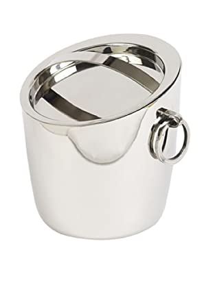 Sidney Marcus Ring Ice Bucket with Lid, Silver, Small