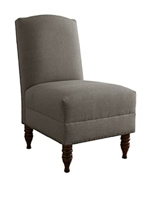 Skyline Pewter Nail Button Armless Chair, Grey