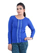 Renka Women's Knitted Winter Top (24999_blue_X Large)