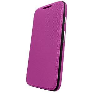 Motorola Flip Shell for Moto G - Retail Packaging - Violet (1st Generation Only)