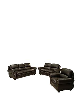 Abbyson Living Gailmarie Premium Leather 3-Piece Set