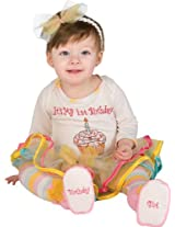 Rubie's Costume First Birthday Princess Tutu Jumper With Leggings Headband and Booties, Multicolor, 0-6 Months