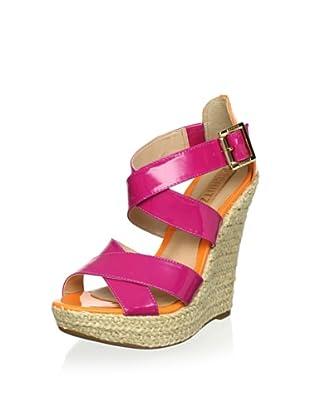 Schutz Women's Wedge Sandal (Fuchsia/Orange)