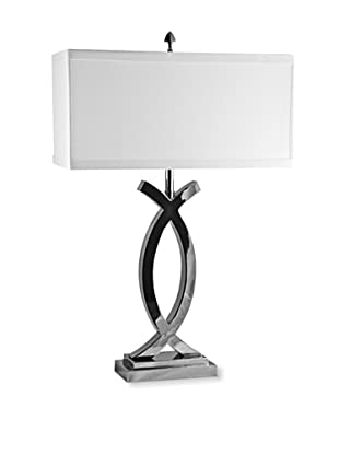 Lamp Works Polished Nickel Pisces Table Lamp