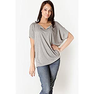 Grey Solid Blouse Harpa