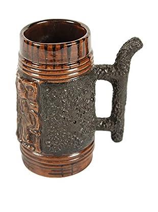 Ceramic Stein, Brown/Black