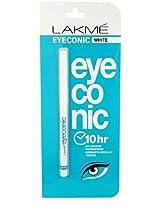 Lakme Eyeconic Kajal, White, 0.35g