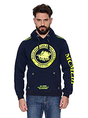 Geographical Norway Sudadera Filgerade Men Contrast (L) (Azul marino / Amarillo)