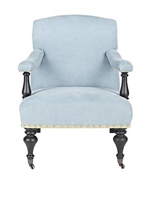 Safavieh Devona Arm Chair, Light Blue