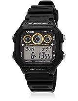 Youth Digital Aae-1300Wh-1Avdf-D106 Black/Multi Digital Watch