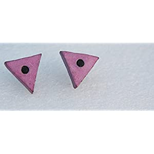 Petals of Earth Terracotta Pink and blue stud earrings