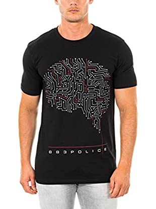 883 Police T-Shirt Manica Corta Brain Man