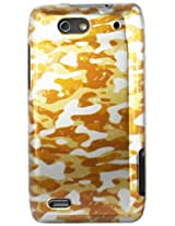 Motorola 2D Protector Cover for Motorola Droid 4/XT894 - Retail Packaging - Gold Camouflage