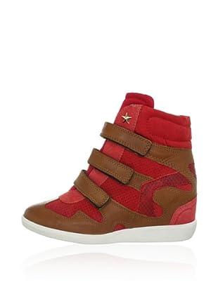 Bullboxer Keil-Sneaker (Rot/Braun)