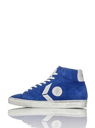 Galliano Zapatillas Alta Zip (Azulón)