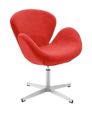 International Design USA Swan Adjustable Wool Leisure Chair, Red
