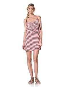 Luna  Women's Heather Tank Dress (Red/White Stripe)