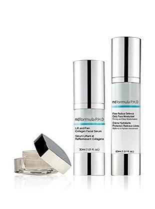 MD FORMULA  Beauty-Set 3 tlg. Eye Serum regenerating Night, Collagen-Lifting Serum, Free-Radical Defence Daily Face Moisturizer