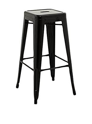 LO+DEMODA Set Taburete de bar 2 Uds. Hight Ural 76 Negro