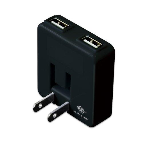 iPhone対応、PLANEXの2ポートUSBモバイル充電アダプタ「充電万能」が580円