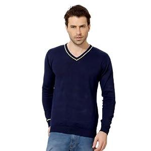 Solid V Neck Sweater