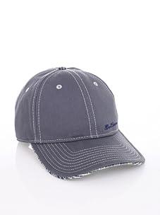 Ben Sherman Men's Herringbone Baseball Cap (Grey)