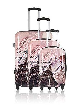 Travel ONE Set de 3 trolleys rígidos Wickoff Multicolor