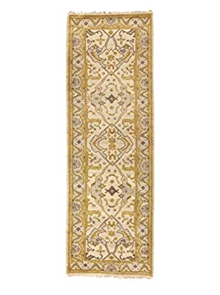 eCarpet Gallery One-of-a-Kind Hand-Knotted Royal Ushak Rug, Cream, 2' 10