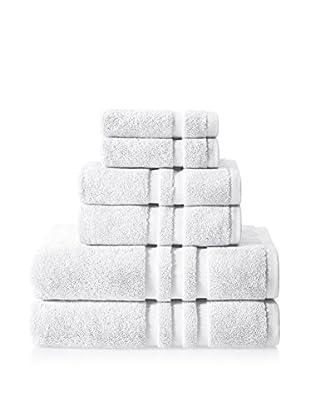 Chortex of England Irvington 6-Piece Towel Set, White