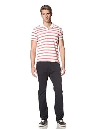 Scotch & Soda Men's Stripe Summer Polo (Red)