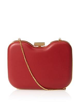 Fendi Women's Hardshell Clutch, Red