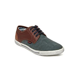 Numero Uno Men Charcoal Grey Casual Shoes