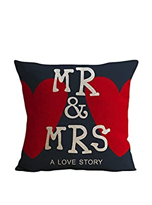LO+DEMODA Kissenbezug Mr & Mrs Love