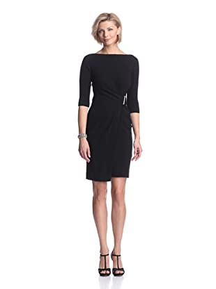 KaufmanFranco Women's Draped Wrap Dress (Black)