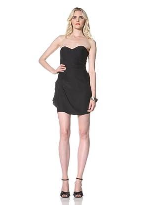 Parker Women's Ruched Strapless Dress (Black)