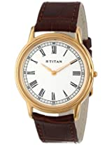 Titan Classique Analog White Dial Men's Watch - ND1488YL03