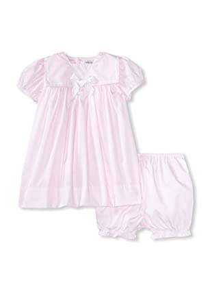 Bebe Mignon Baby Dress with Bloomers (Pink)