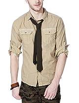 People Men's Slim Fit Shirt