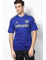 Football Blue Crew Neck T Shirt