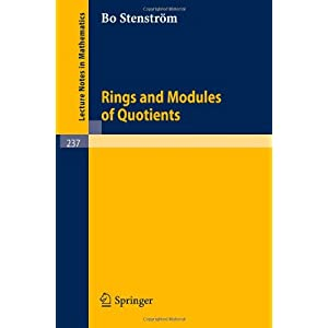 Rings and Modules of Quotients B. Stenstr?m