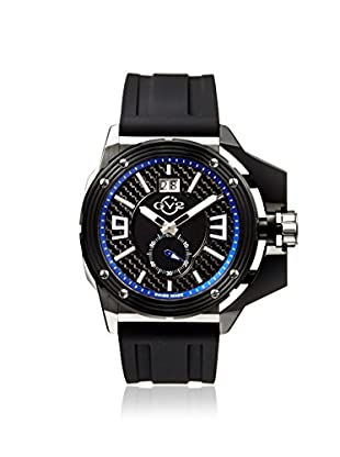 GV2 by Gevril Men's 9403 Grande Black Silicone Watch with an Extended Case